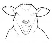 Coloriage et dessins gratuit Mouton rigolo à imprimer