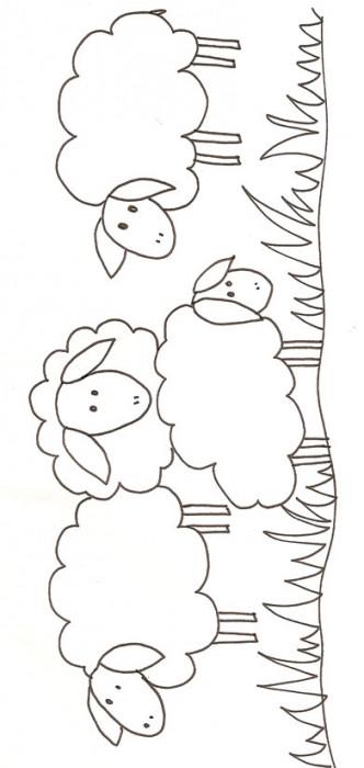 Coloriage et dessins gratuits Mouton simple à imprimer