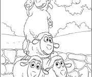 Coloriage Moutons humoristiques