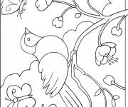 Coloriage dessin  Oiseau 12