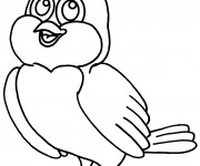 Coloriage dessin  Oiseau 9