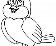 Coloriage et dessins gratuit Oiseau couleur à imprimer
