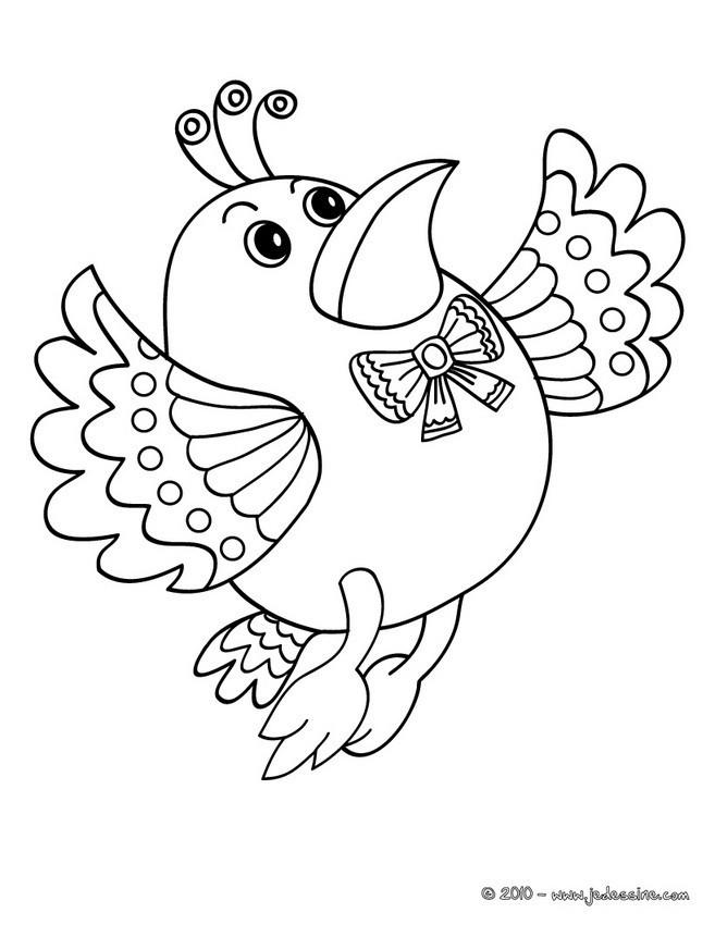 Coloriage et dessins gratuits Oiseau élégant à imprimer