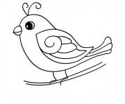 Coloriage Oiseau jouet