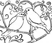 Coloriage et dessins gratuit Oiseau mandala à imprimer