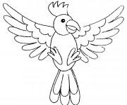 Coloriage et dessins gratuit Oiseau Perroquet à imprimer