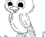 Coloriage et dessins gratuit Oiseau qui chante à imprimer