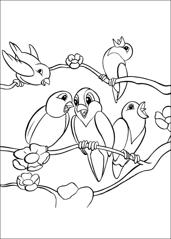 coloriage oiseaux en train de chanter dessin gratuit imprimer. Black Bedroom Furniture Sets. Home Design Ideas