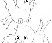 Coloriage et dessins gratuit Oiseaux qui chantent à imprimer