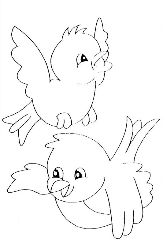 Coloriage Oiseaux Qui Chantent Dessin Gratuit à Imprimer