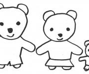 Coloriage Ours en famille