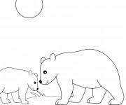 Coloriage et dessins gratuit Ours en plein air à imprimer