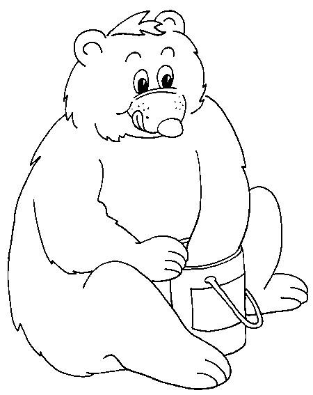 Coloriage et dessins gratuits Ours humoristique à imprimer