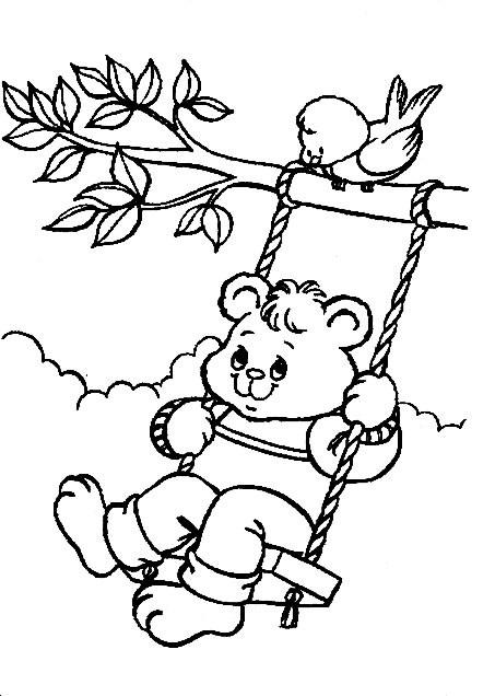 Coloriage et dessins gratuits Ours qui joue à imprimer