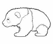Coloriage et dessins gratuit Panda en marchant à imprimer