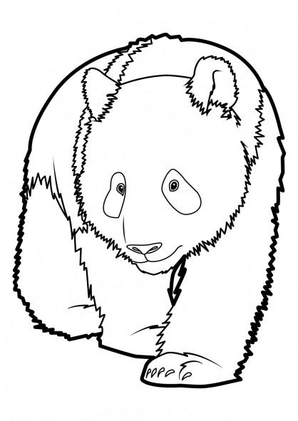 Coloriage panda g ant facile dessin gratuit imprimer - Panda coloriage ...
