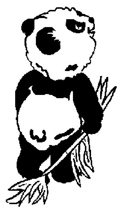 Coloriage et dessins gratuits Panda qui sourit à imprimer