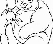 Coloriage et dessins gratuit Panda souriant à imprimer
