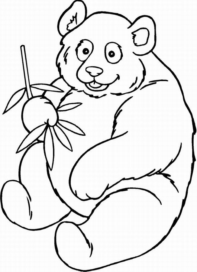Coloriage panda souriant dessin gratuit imprimer - Panda coloriage ...