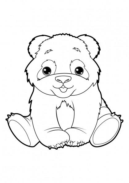 Coloriage Panda Trop Mignon Dessin Gratuit à Imprimer