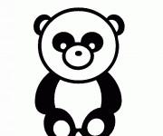 Coloriage Panda vecteur