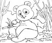 Coloriage et dessins gratuit Petit Panda s'amuse à imprimer