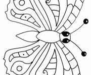 Coloriage dessin  Papillon 14