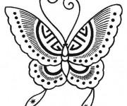 Coloriage Papillon à découper