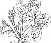 Coloriage Papillon dans la nature