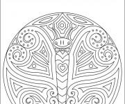 Coloriage et dessins gratuit Papillon mandala à imprimer
