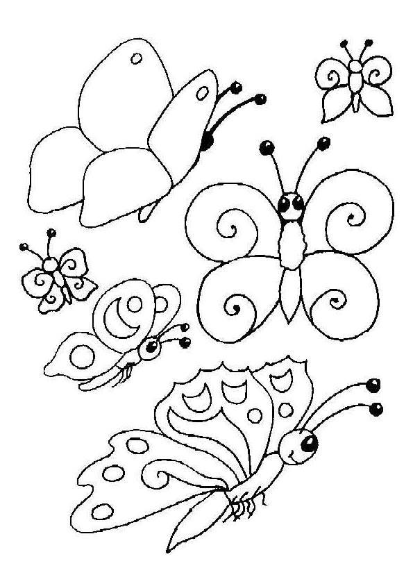 Coloriage et dessins gratuits Papillon maternelle simple à colorier à imprimer
