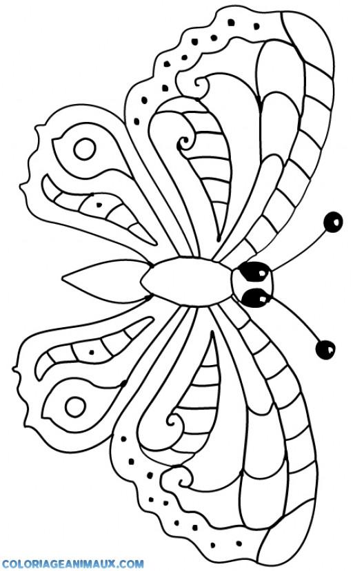Kleurplaat Bas Coloriage Papillon Simple Dessin Gratuit 224 Imprimer