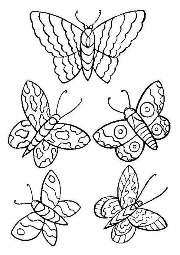 Coloriage papillons stylis s dessin gratuit imprimer - Coloriage de papillon a imprimer gratuit ...