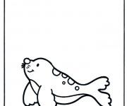 Coloriage dessin  Phoque 8