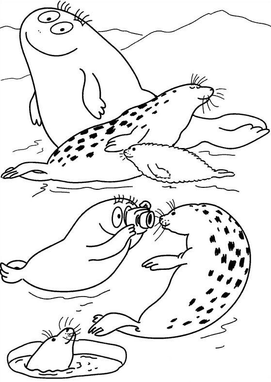 Coloriage et dessins gratuits Phoque dessin animé à imprimer
