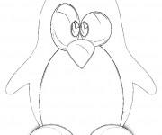 Coloriage et dessins gratuit Pingouin au crayon à imprimer
