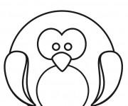 Coloriage et dessins gratuit Pingouin dessin pour enfant à imprimer