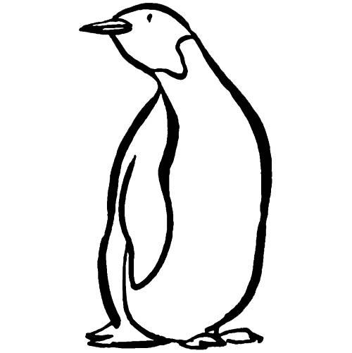 Coloriage et dessins gratuits Pingouin en couleur à imprimer