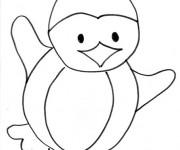 Coloriage Pingouin en dansant