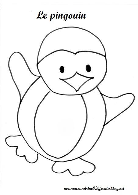 Coloriage et dessins gratuits Pingouin en dansant à imprimer