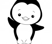 Coloriage Pingouin mignon