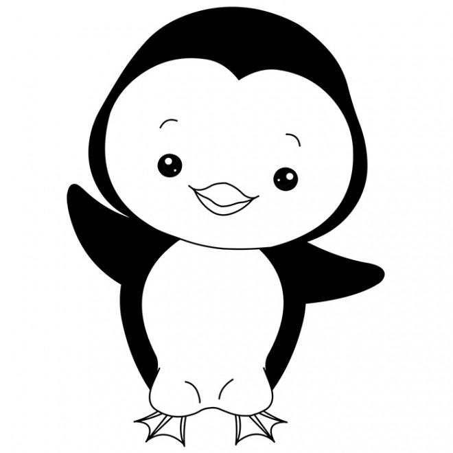 Coloriage Pingouin Mignon Dessin Gratuit A Imprimer