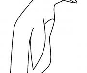 Coloriage et dessins gratuit Pingouin simple à imprimer