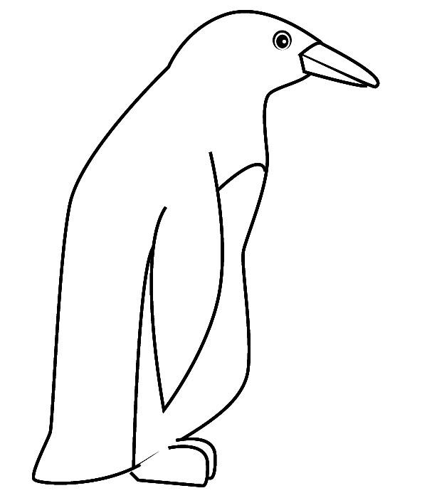Coloriage et dessins gratuits Pingouin simple à imprimer