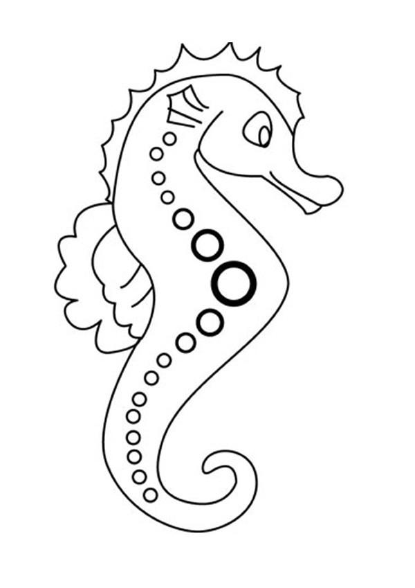 Coloriage et dessins gratuits Hippocampus à imprimer