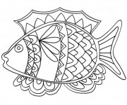 Coloriage dessin  Poisson 14