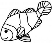 Coloriage dessin  Poisson 3