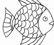 Coloriage dessin  Poisson 4