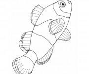 Coloriage dessin  Poisson 6