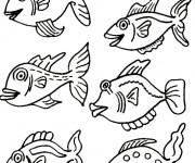 Coloriage dessin  Poisson 9